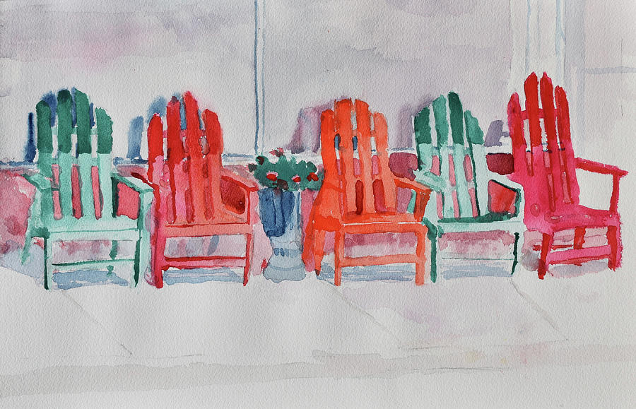 5 Chairs on Fifthieth Street by Paul Thompson