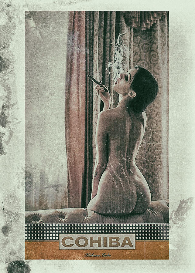 80s Photograph - Cuban Cigar And Sexy Lady 5 by Benjamin Dupont