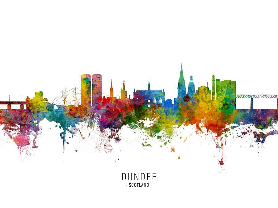 Dundee Scotland Skyline by Michael Tompsett