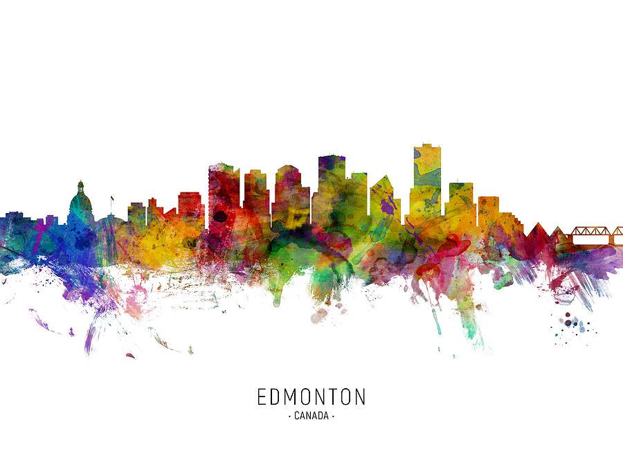 Edmonton Canada Skyline by Michael Tompsett