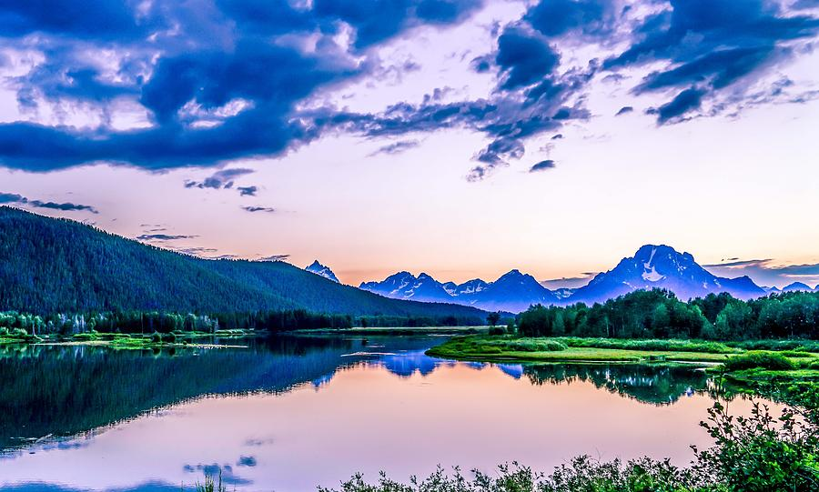 Lake Photograph - Grand Tetons by Ric Schafer