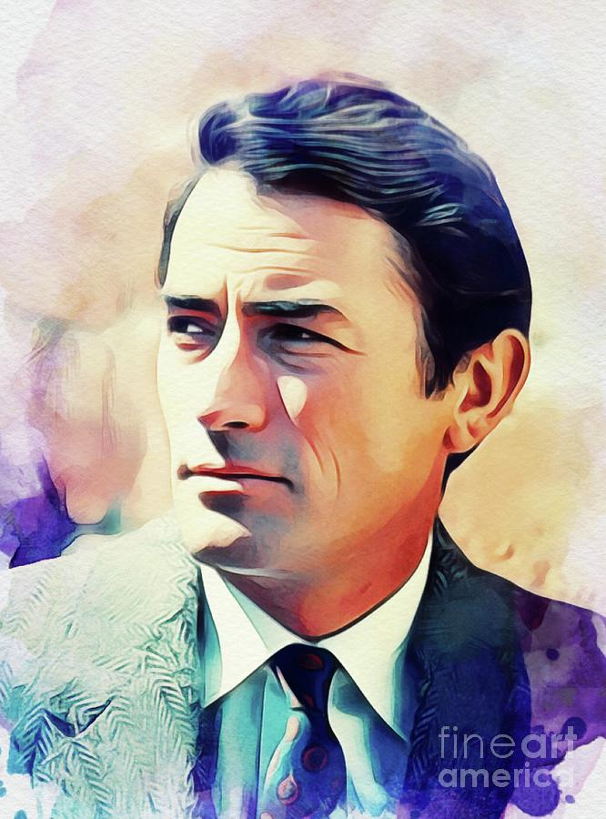 Gregory Painting - Gregory Peck, Vintage Actor by John Springfield