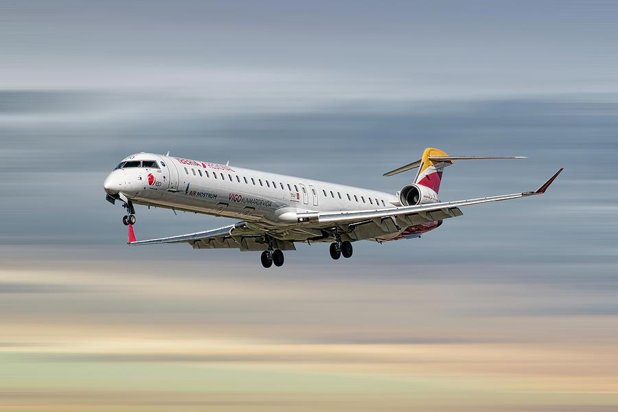 Iberia Mixed Media - Iberia Regional Bombardier Crj-1000 by Smart Aviation