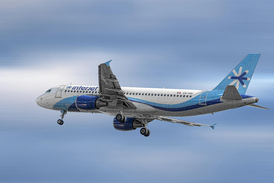 Airbus Mixed Media - Interjet Airbus A320-214 by Smart Aviation