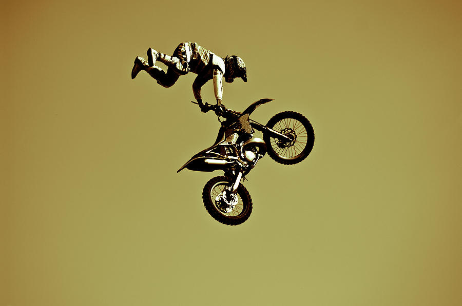 Italy, Rome, Freestyle Motocross Photograph by Win-initiative