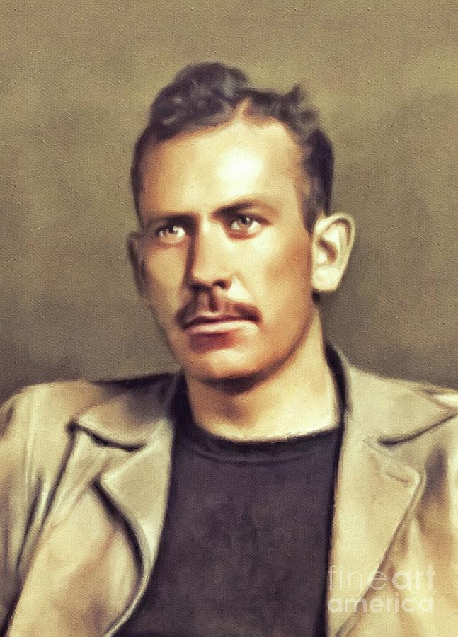 John Steinbeck, Literary Legend Painting by Esoterica Art Agency