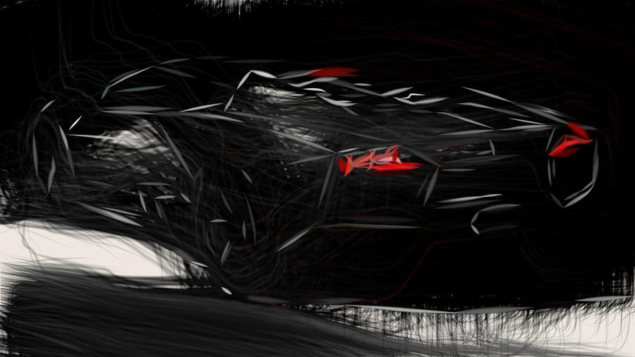 Lamborghini Reventon Roadster Draw Digital Art By Carstoon Concept