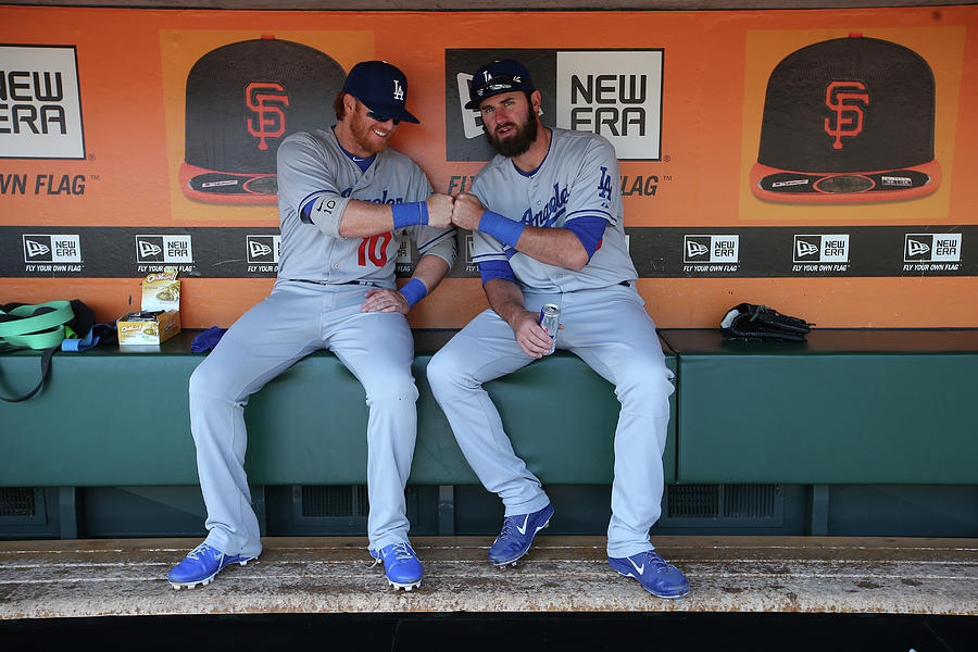 Los Angeles Dodgers V. San Francisco Photograph by Brad Mangin