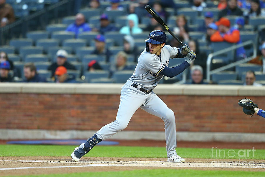 Milwaukee Brewers V New York Mets Photograph by Mike Stobe