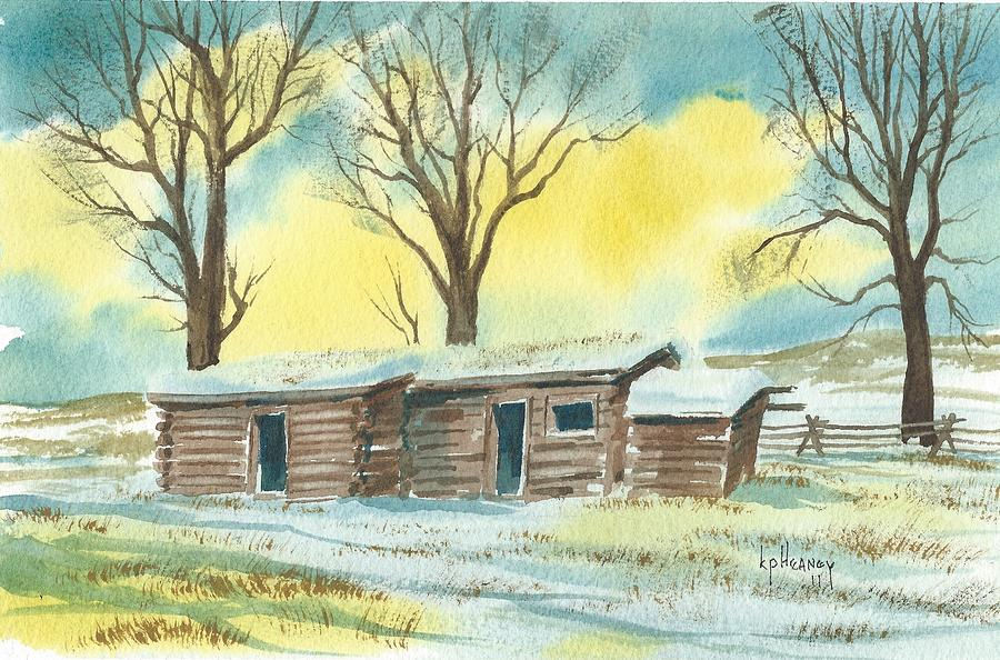 Montana Homestead Painting - Montana Homestead by Kevin Heaney