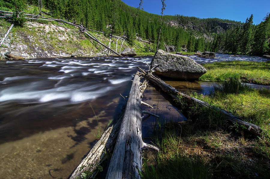 obsidian creek river in yellowstone wyoming by ALEX GRICHENKO