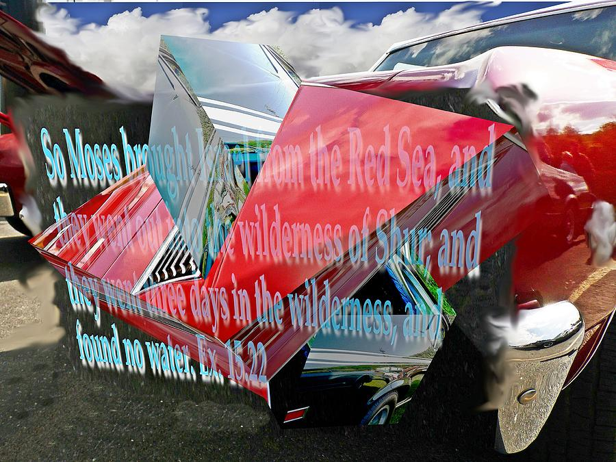 Old car with 3D text boxes by Karl Rose