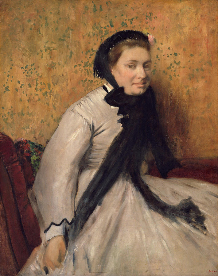 Portrait of a Woman in Gray by Edgar Degas