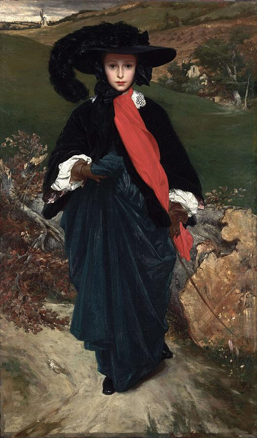 Frederic Leighton Painting - Portrait Of May Sartoris by Frederic Leighton
