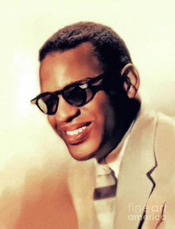Ray Painting - Ray Charles, Music Legend by John Springfield