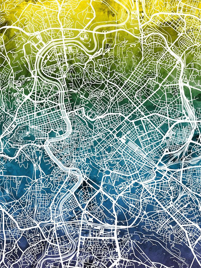 Rome Italy City Map