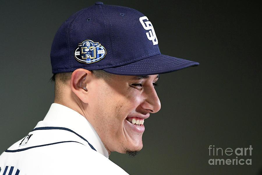San Diego Padres Introduce Manny Machado Photograph by Jennifer Stewart