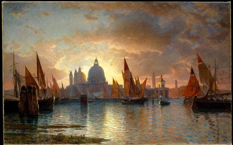 Santa Maria della Salute, Sunset by William Stanley Haseltine