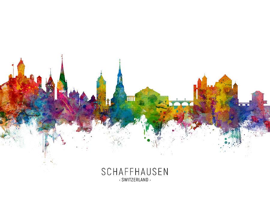 Schaffhausen Switzerland Skyline by Michael Tompsett