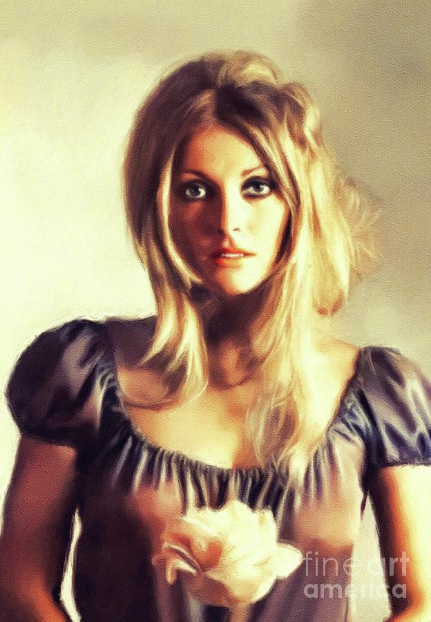 Sharon Painting - Sharon Tate, Vintage Actress by John Springfield