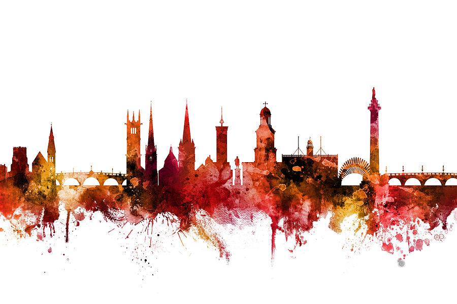Shrewsbury England Skyline by Michael Tompsett