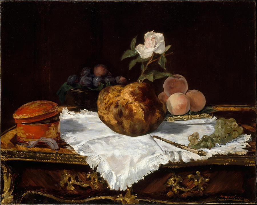 Edouard Manet Painting - The Brioche  by Edouard Manet