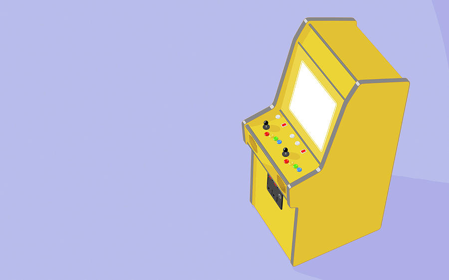 Arcade Digital Art - Vintage Arcade Machine 5 by Allan Swart