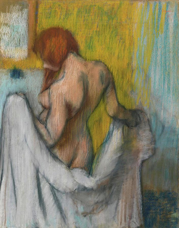 Edgar Degas Painting - Woman With A Towel  by Edgar Degas