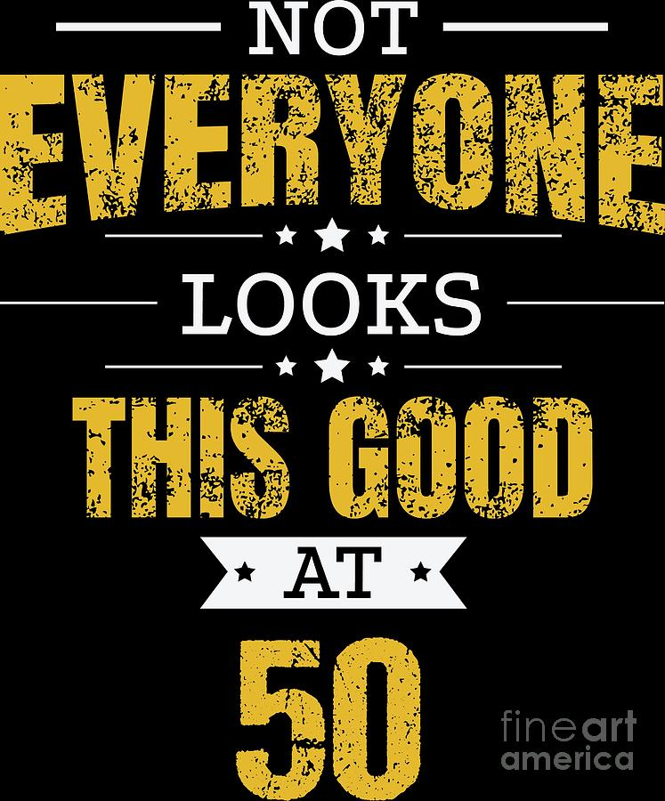 50th Birthday Gift Retro Fifty 50 Years Looks This Good Yellow