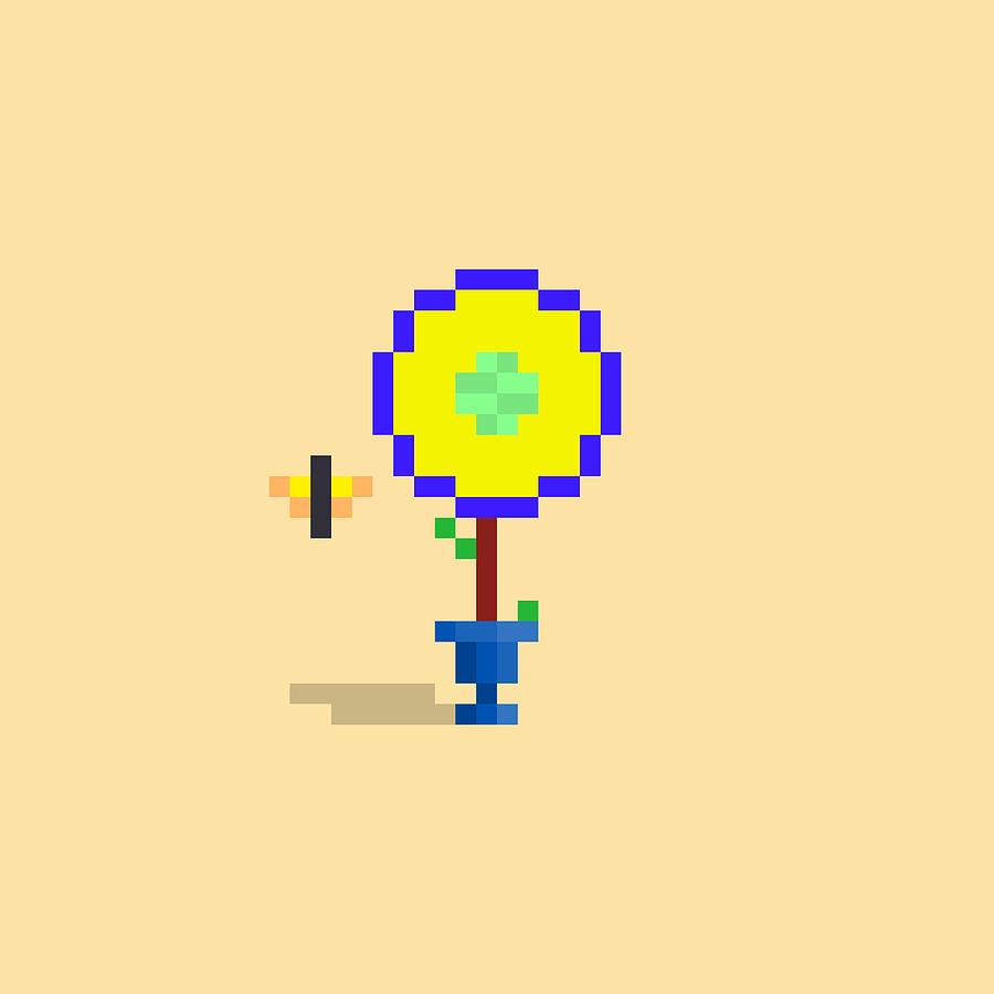 #552 Claudia - Pixel.flowers Digital Art