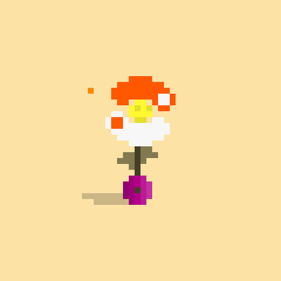 #553 Maxine - Pixel.flowers Digital Art