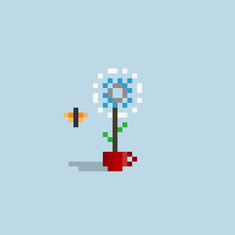 #554 Rick - Pixel.flowers Digital Art