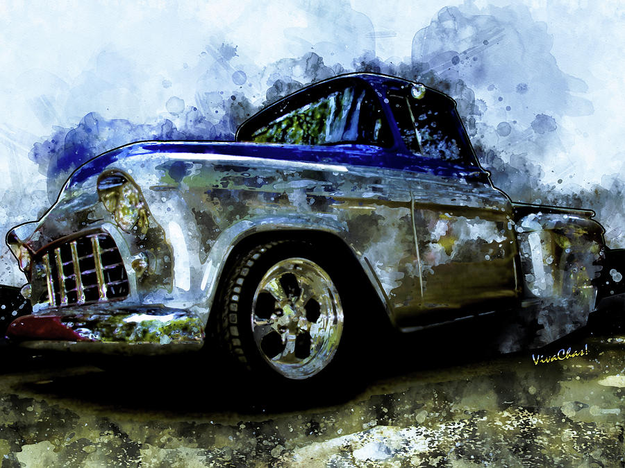 56 Chevro Pickup Dreaming of Chrome by Chas Sinklier