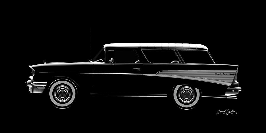 57 Chevy Nomad by Peter J Sucy