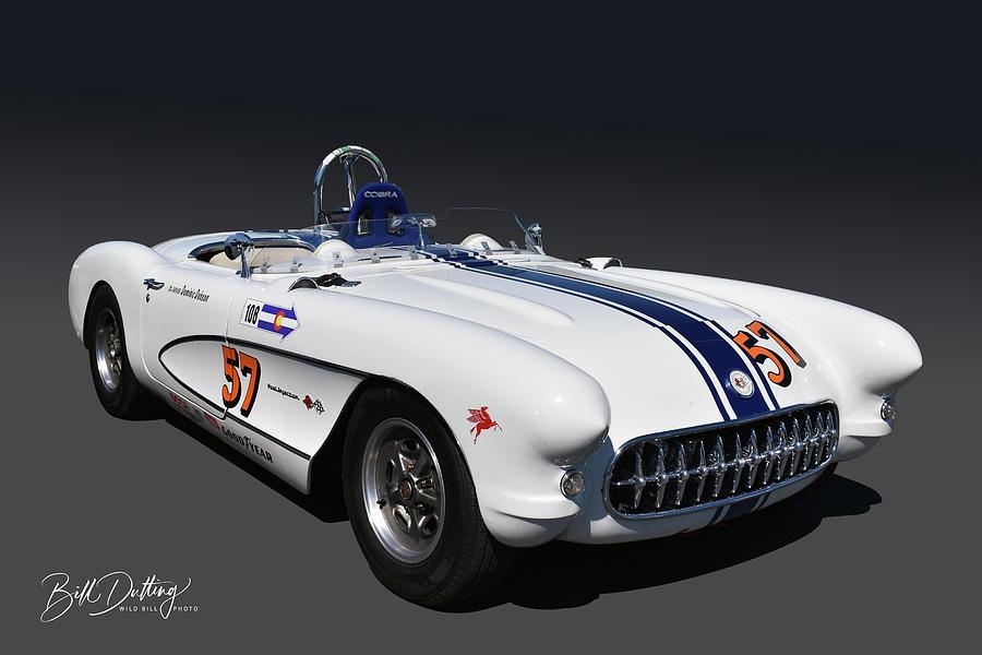 57 Corvette Racer by Bill Dutting