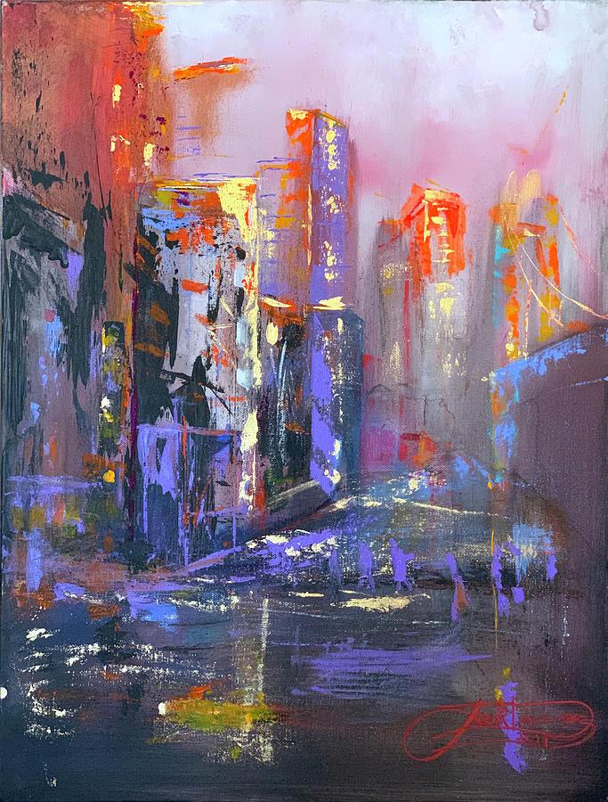 59TH STREET BRIDGE SUNRISE RAIN  by Jack Diamond