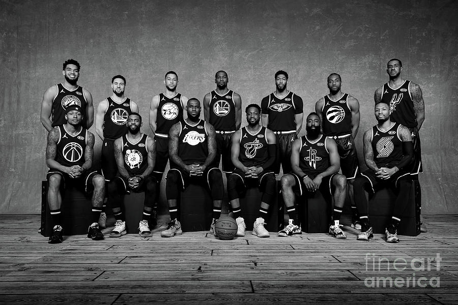 2019 Nba All Star Portraits Photograph by Jesse D. Garrabrant