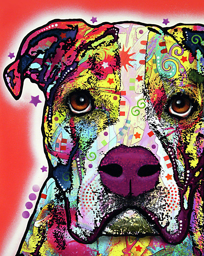 American Bulldog Mixed Media - American Bulldog by Dean Russo