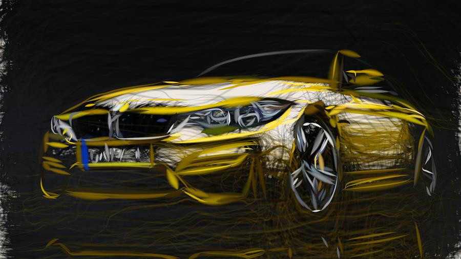 Bmw M4 Coupe Drawing