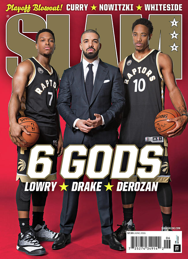 6 Gods: Lowry, Drake, Derozan SLAM Cover Photograph by Atiba Jefferson