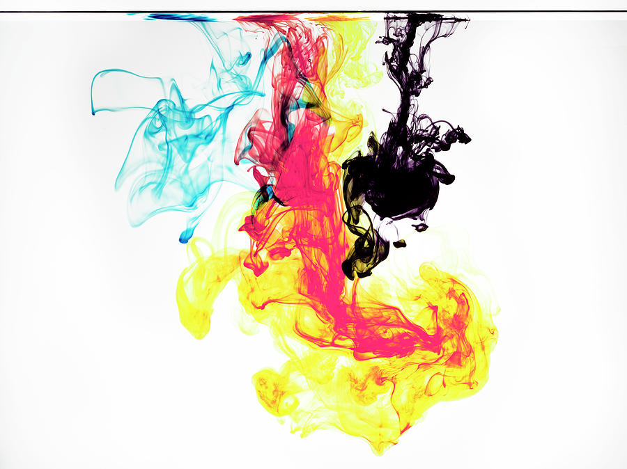 Ink In Cmyk Colors Photograph by Jonathan Knowles