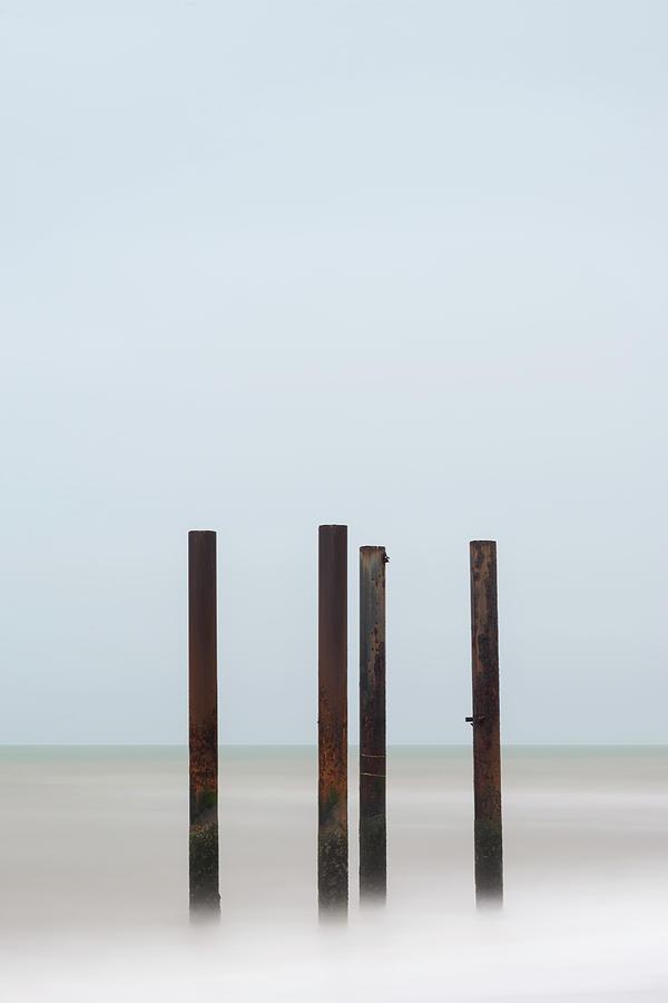 Landscape Photograph - Landscape Image Of Derelict Victorian West Pier At Brighton In W by Matthew Gibson