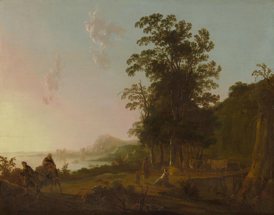 Landscape with the Flight into Egypt by Aelbert Cuyp