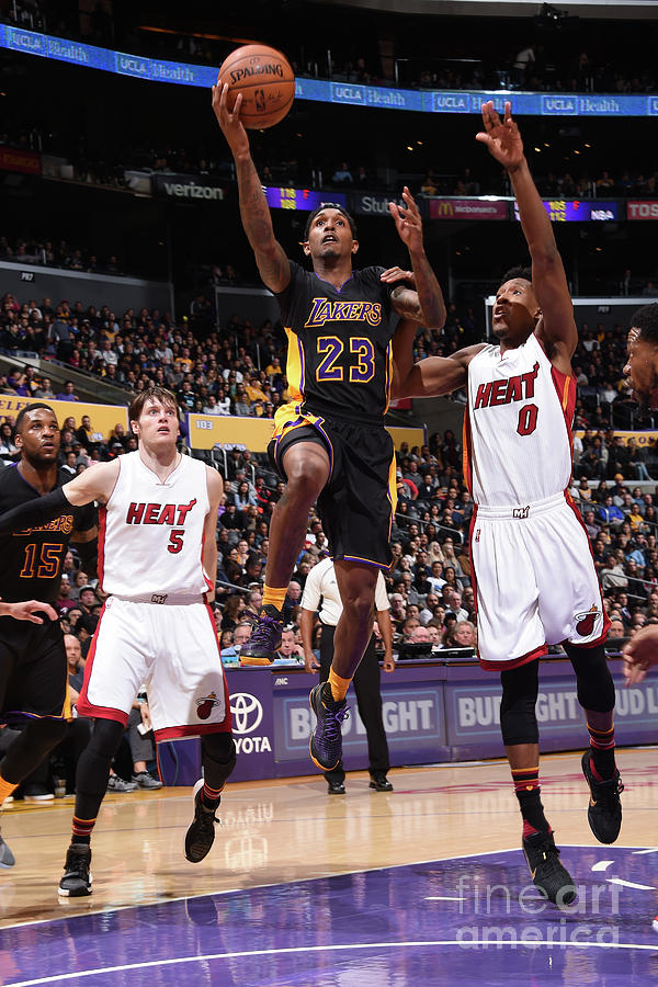 Miami Heat V Los Angeles Lakers Photograph by Andrew D. Bernstein