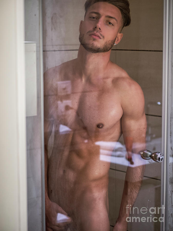 Naked and athletic Naked Athletic Handsome Young Man Taking Shower Photograph By Stefano Cavoretto