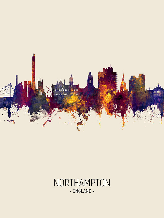 Northampton England Skyline by Michael Tompsett