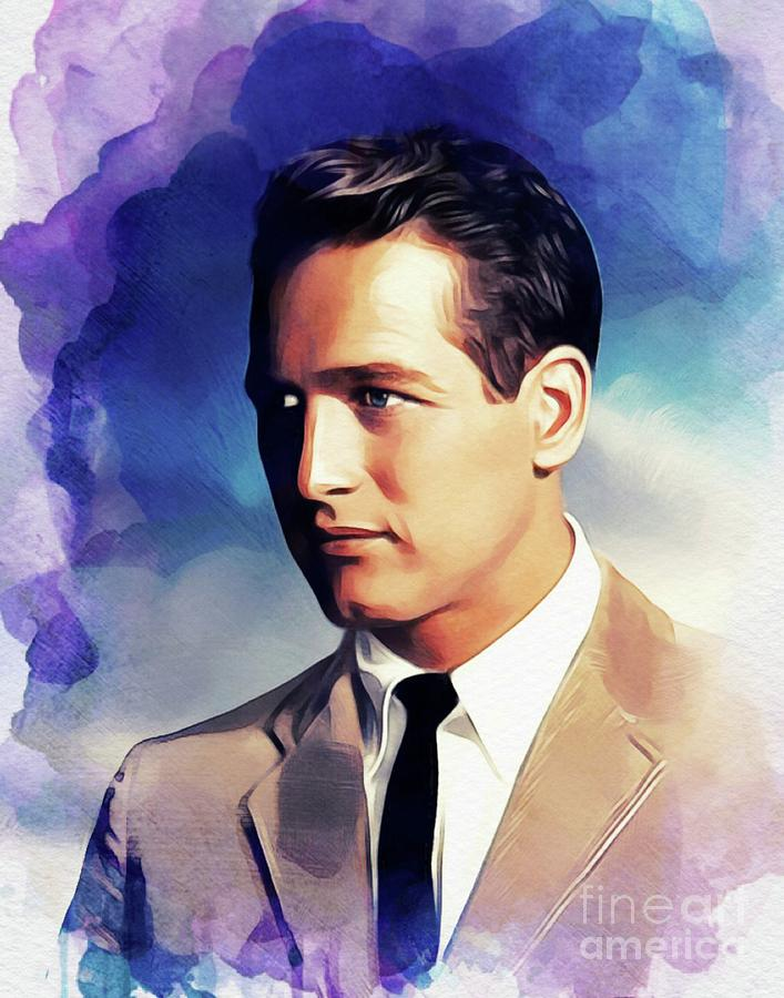 Paul Painting - Paul Newman, Actor by Esoterica Art Agency