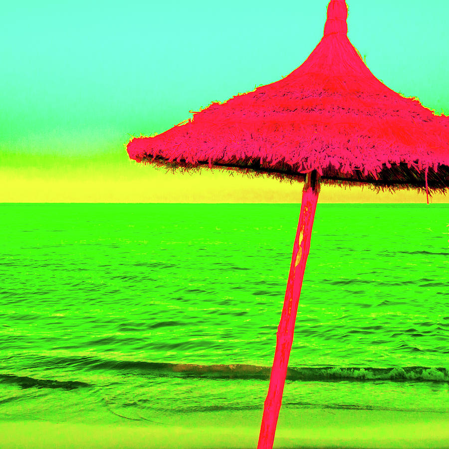 Pop Art Beach Umbrella  by Le Comp