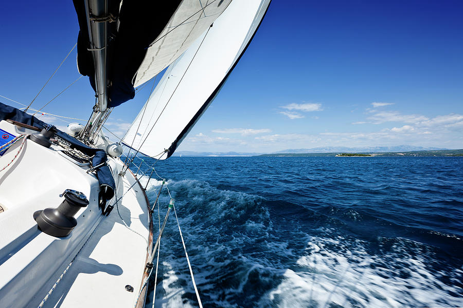 Sailing In The Wind With Sailboat Photograph by Mbbirdy
