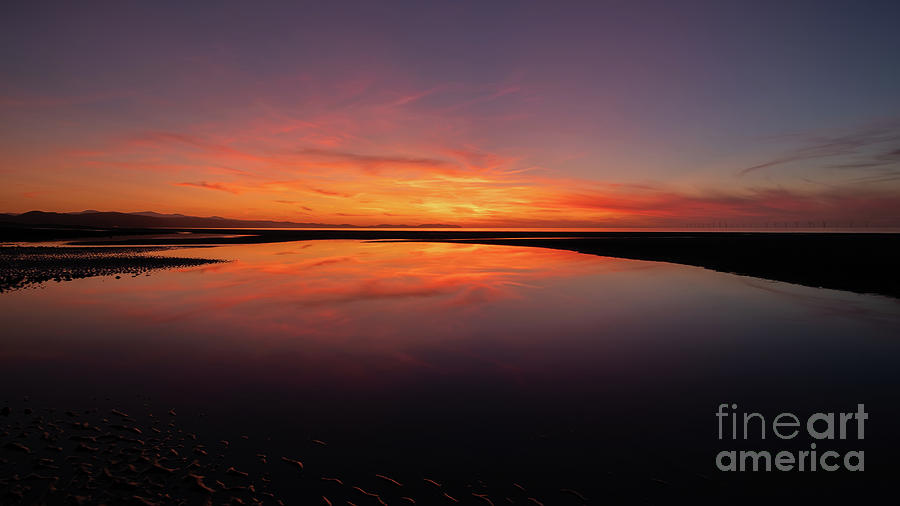 Sunset Photograph - Seascape Sunset by Adrian Evans